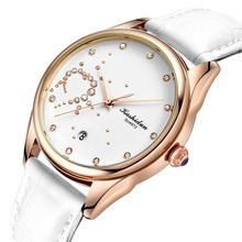 Love Dial Leather Bracelet Low Price Women's Quartz Watch Online White Watch for Woman