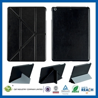 New Design Travel Style stand leahter case for ipad