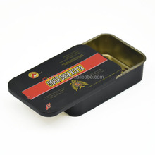 factory direct sell small tin cigarette case candom/pill tin can rectangle tin box with sliding lid