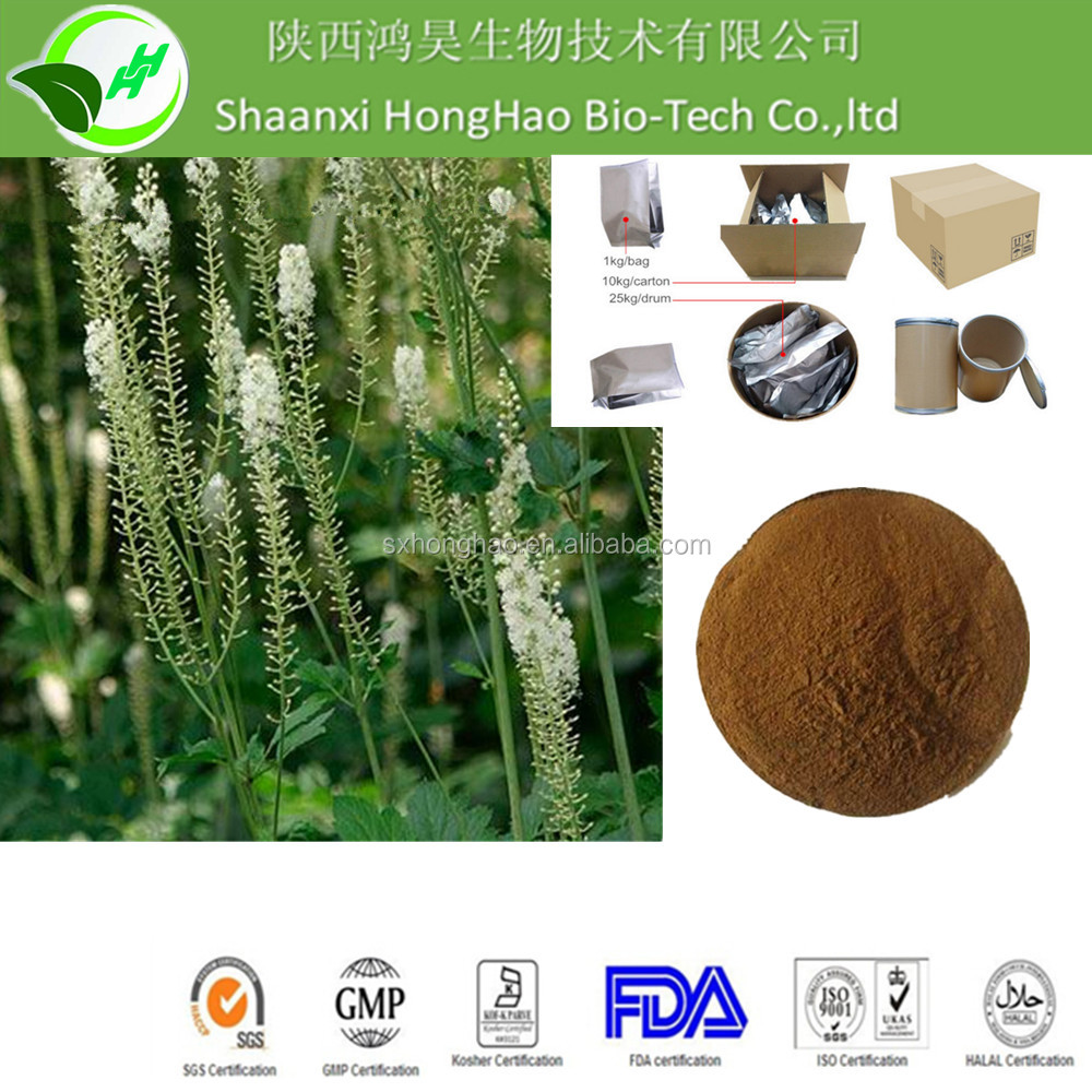 High quality 2.5% 8% Triterpene Glycosides Black Cohosh Extract