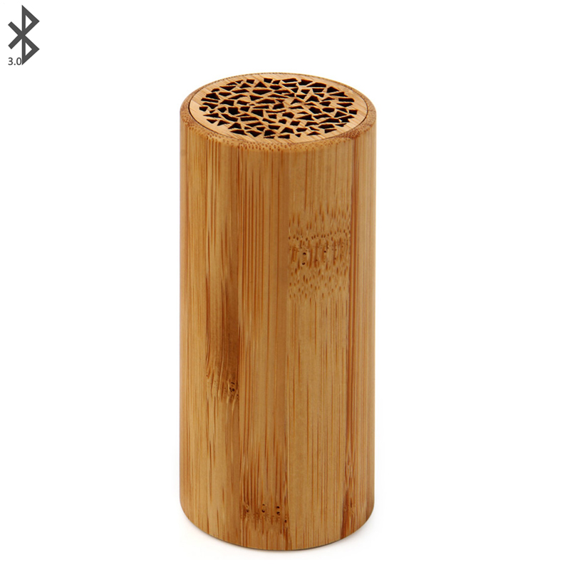 Bamboo Wireless Bluetooth Speaker Square Wireless Rechargeable Speaker