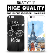 Eiffel Tower uv printing case for iphone 5 6 6s plus mobile phone cover for iphone 6s case