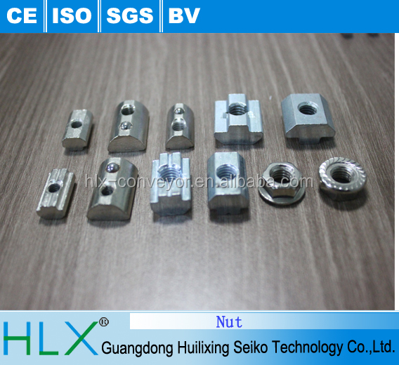 Iron nut for aluminum extrusion