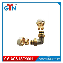 China supplier pipe fitting copper double elbow nickel plated ART016NH compression fitting