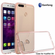 Crystal clear acrylic bumper case for honor V9, phone case for Honor 8 pro