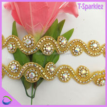 flatback rhinestones stores pearl gold bridal trim for wedding dresses