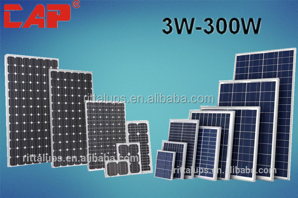 A-class material 3 W-300W portable solar panel with strong absorptivity