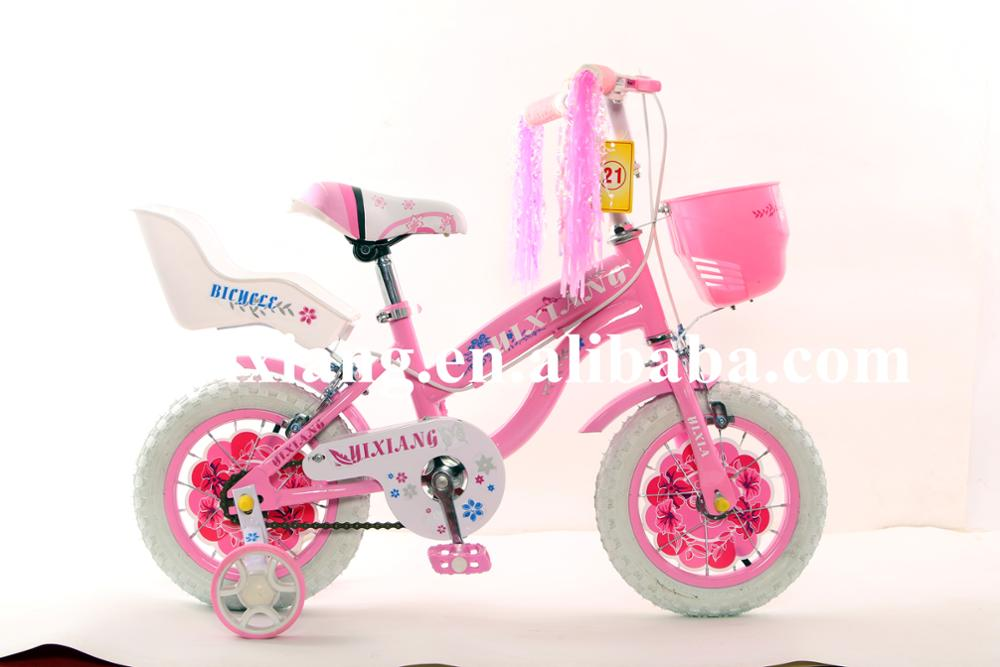 Good quality children bicycle pink color girls gift bike beautiful decoration for Christmas gift