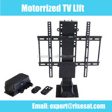 Motorized TV Lift with roller top and remote control factory price Risesat