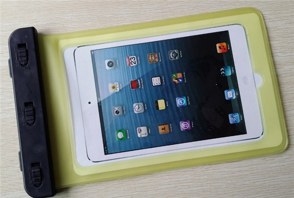 China supplier yellow pvc waterproof case for iPad mini 64GB for swimming