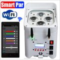 LED 4*12w wireless battery powered 6in1 dmx512 par64 can LED stage light