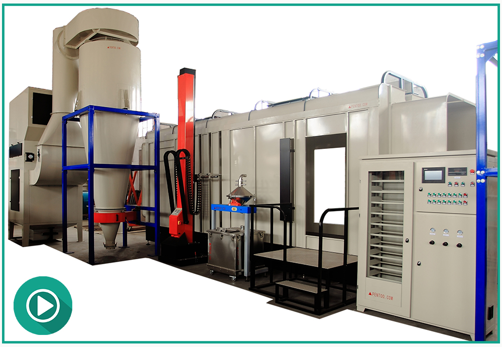 PCB-72004/PCB-72004(V) Secondary Recovery System Metal Wire Pvc Powder Coating Spray Booth