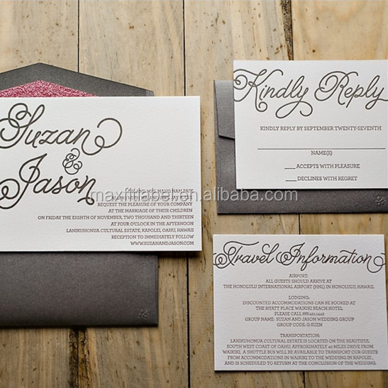 2017 Customized high quality Invitation Card or post cards with your logo