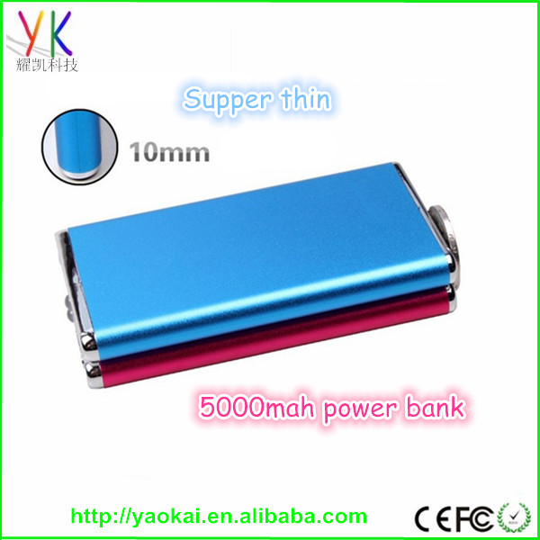 Power bank 5000mAh solar/sun solar power, mobile solar charger