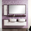 Hot sales 1700MM Wall Mounted double basin,double sink, PVC Bathroom Cabinet,bathroom vanity