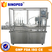 Automatic High Speed Liquid Filling Capping Machine / Injection Water Filling Capping Line