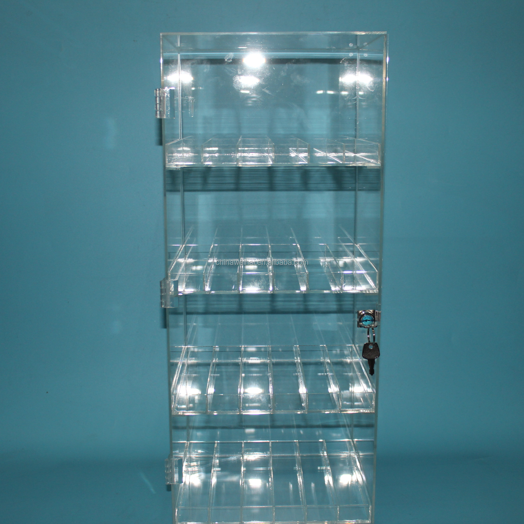 LOGO printed  Acrylic Moroccan Oil Display Stand