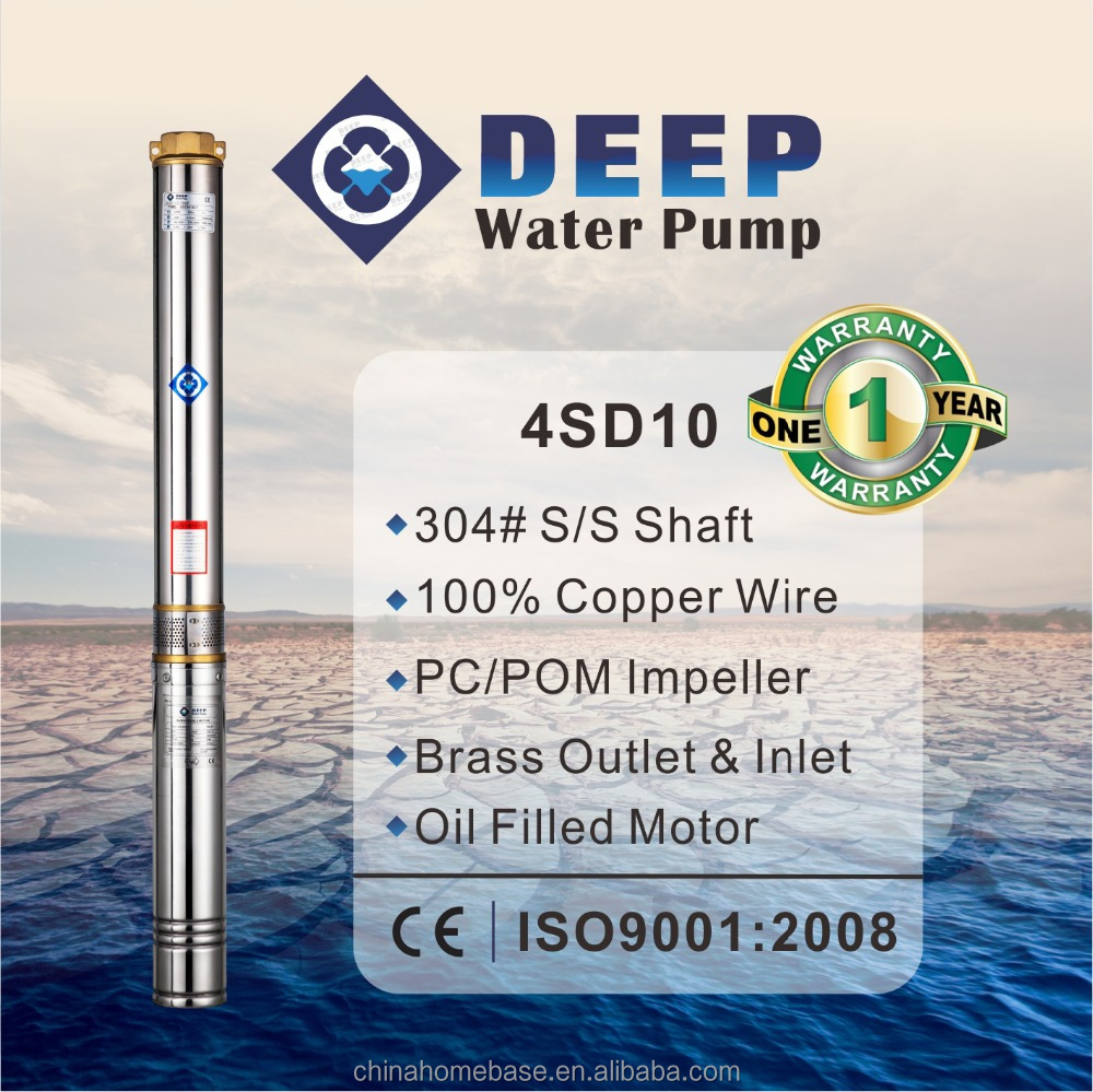 4SD10 top quality AC electrical dc solar submersible pump price