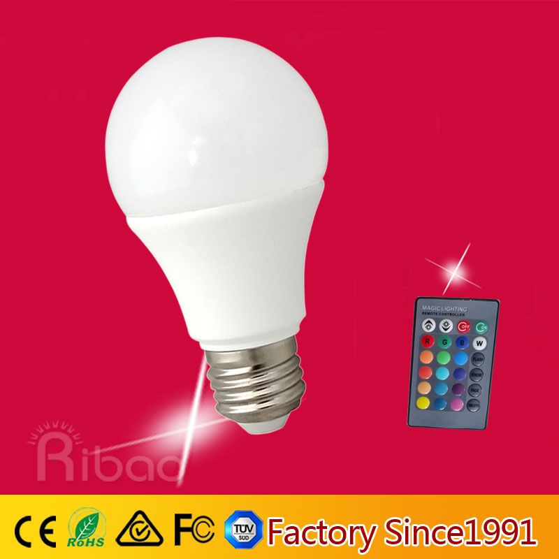 a65 e27 b22 9w color changing led light bulb china manufacturer