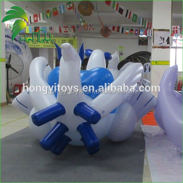 Hot Sale 4M Inflatable Blue Dragon With SPH / Inflatable Cartoon DragonToys For Sale From Hongyi