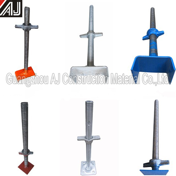 U-head Adjustable Screw Jack Base For Construction,(factory in guangzhou)