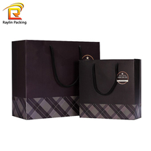 Hot sale custom logo printed kraft paper bag shopping different size