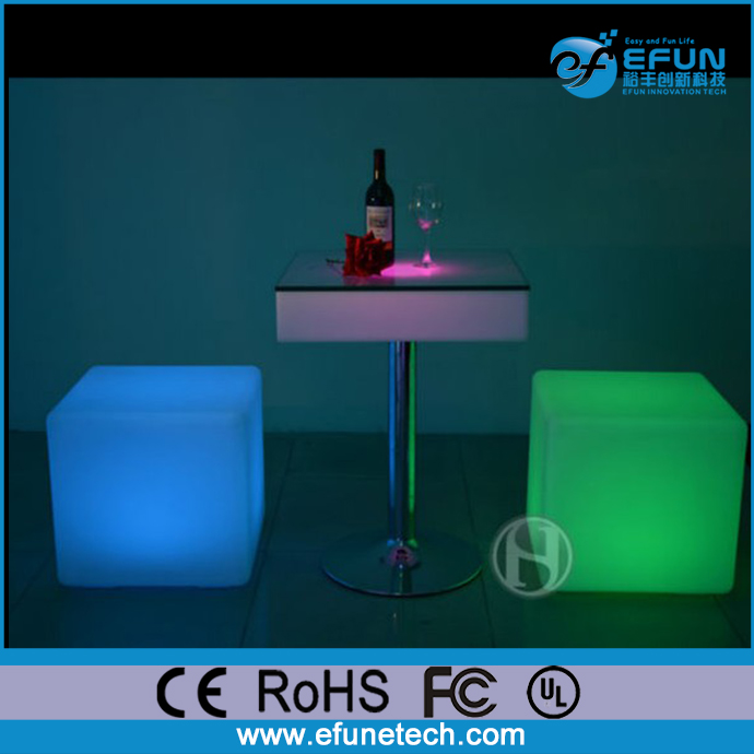 decorative rgb glowing light cube seat, illuminated led light cube seating outdoor