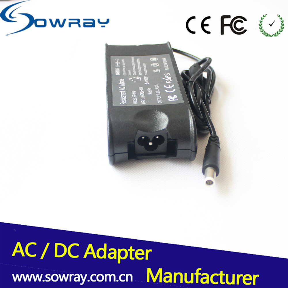 Factory wholesale OEM replacement laptop charger for dell 19.5v 4.62a 90w notebook charger pa-10 ac adapter