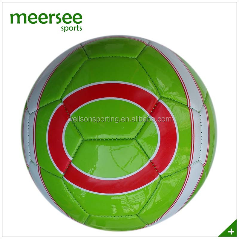 Green PVC machine sewn promotional football rebounder