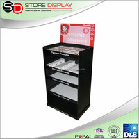 High quality jewelry floor display /cardboard free standing bottle display /cardboard display case, blister pack display stand