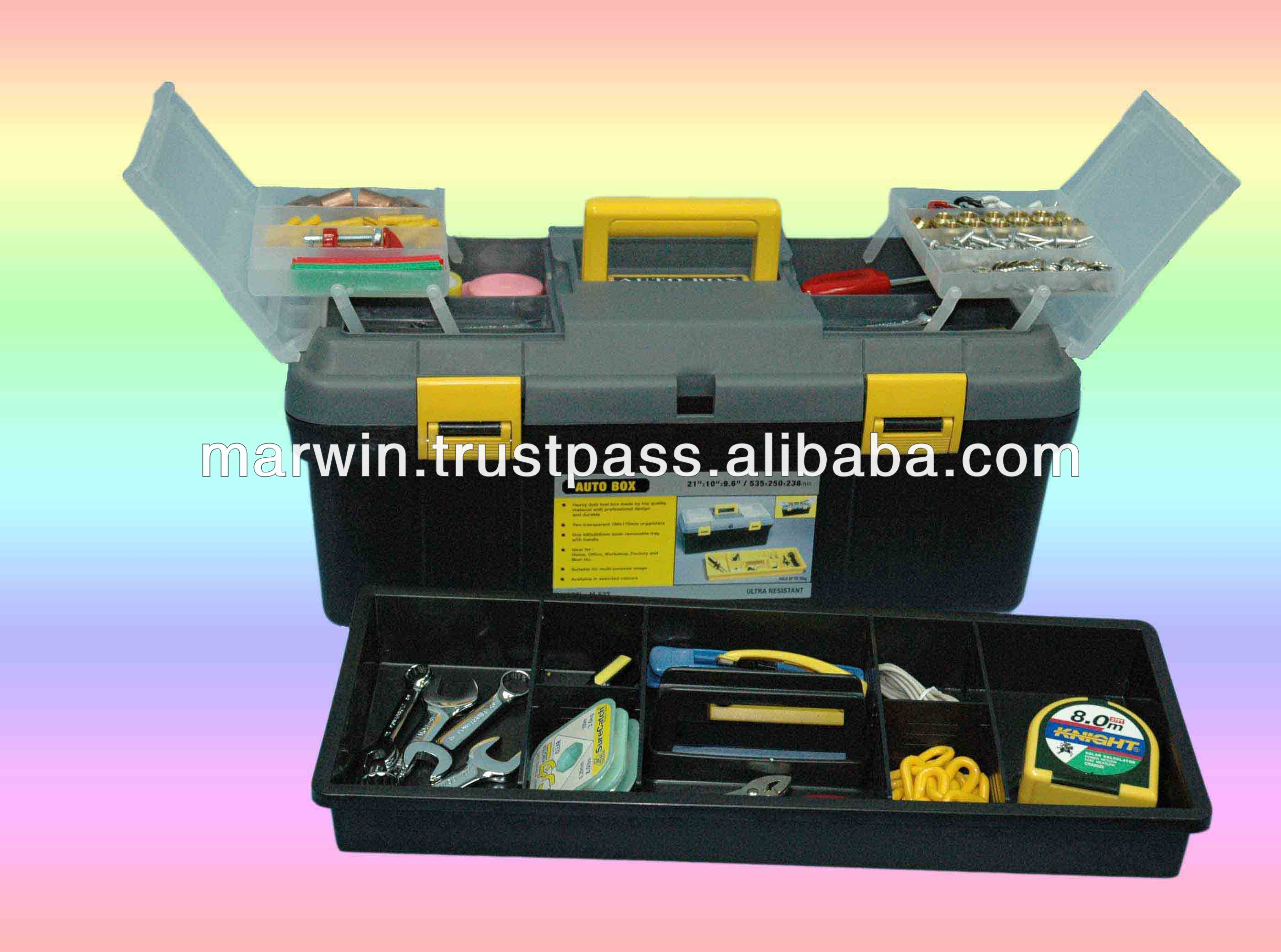 "21"" Tool box with cover organiser"