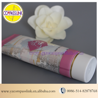 One Color Silver and Golden Hot Stamping Tubes For Body Lotion