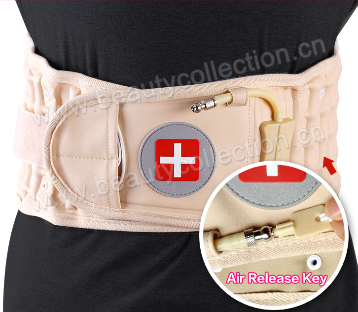 medical waist traction belt helping relieve back pain from degenerative disc and joint desease BC-0905