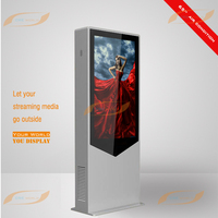 65 inch free standing outdoor digital signage price with 2000nits