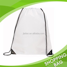 Promotional Manufacture Plain Custom waterproof Polyestesr Nylon Drawstring Backpack
