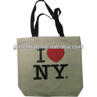Fashion custom city name printing souvenir canvas bag