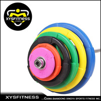 100% colorful rubber bumper olympic plate for gym
