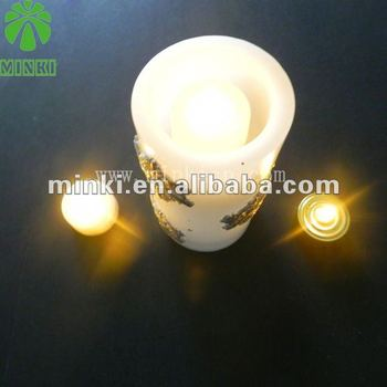 Decorative flameless paraffin wax led candle light