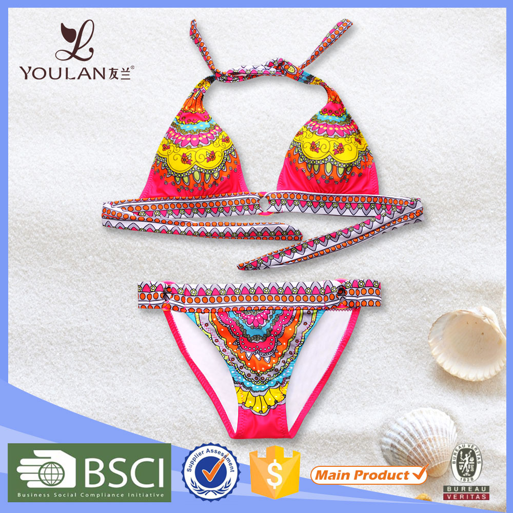 2016 One Piece Swimsuit Sling Bikini Swimwear