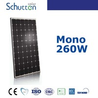 2016 Schutten best seller CE TUV ISO full certified 25years warranty A grade poly 260w lower price solar panel