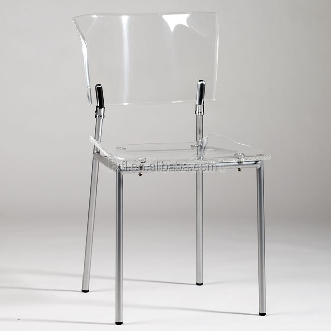 Professional Design High Transparent Clear Acrylic Desk Chair, dining chair