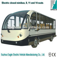 Electric Enclosed Sightseeing Bus 11 Seater