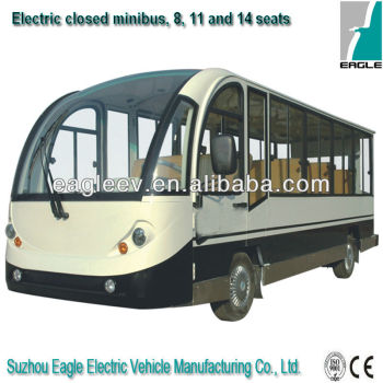 Electric enclosed sightseeing bus, 11 seater, CE approved