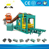 QTJ4-25 cement brick manufacturing process