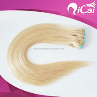 Alibaba express Wholesale top quality virgin remy hair tape hair extension