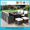 Outdoor Luxury Furniture Garden Used Wicker Cube Rattan Dining Set