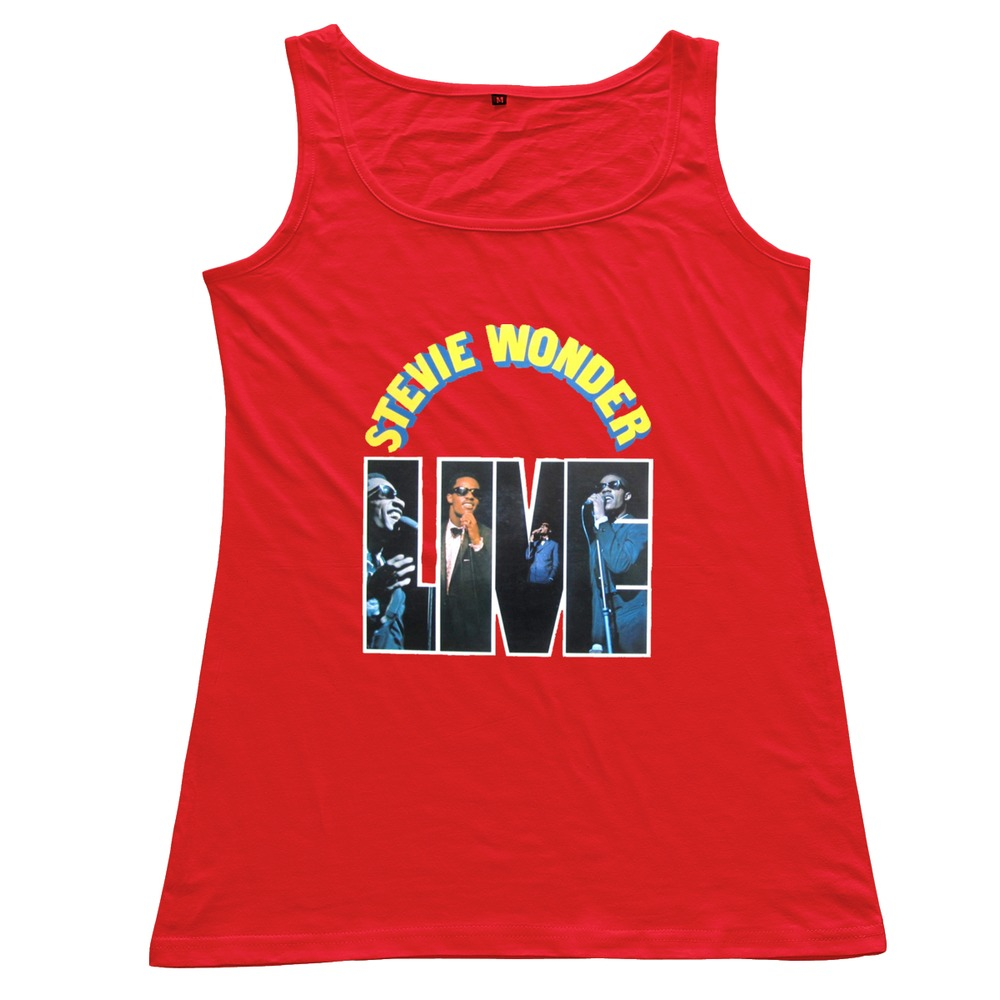 2015 Latest Fashion Stevie Wonder 100 % Cotton Round Neck Tops for Woman for Sale