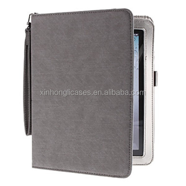Corduroy PU Leather Case with Stand for iPad 2/3/4