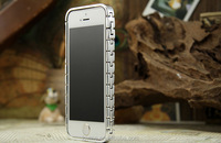 For Apple iPhone 5 5S Luxury Watch Link Chain Metal Aluminium Bumper Case