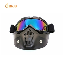 high quality protective eyewear motorcycle motocross goggles with face mask